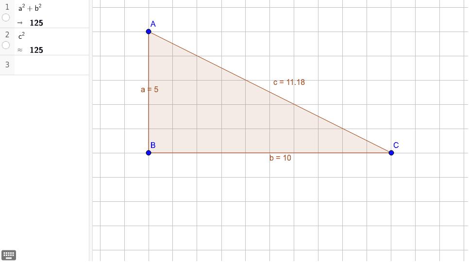 Pythagoraan lause, tehtävä 4.5