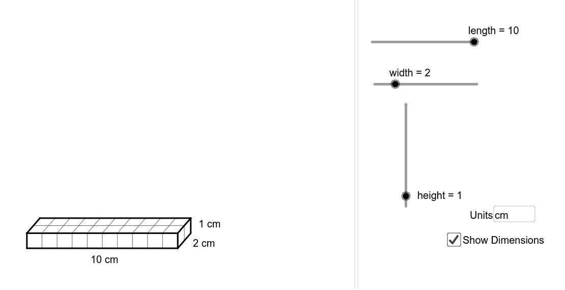 Create a 20cm3 chocolate box