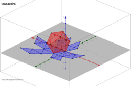 Icosaedro planificado e animado