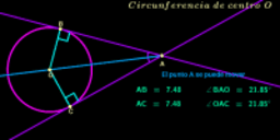 Circunferencia ( tangentes congruentes )