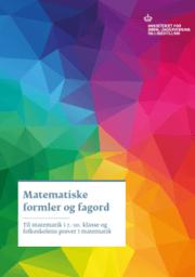 Matematiske formler og fagord - 2016