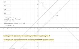 Parallela e perpendicolare a una retta data (interattivo)