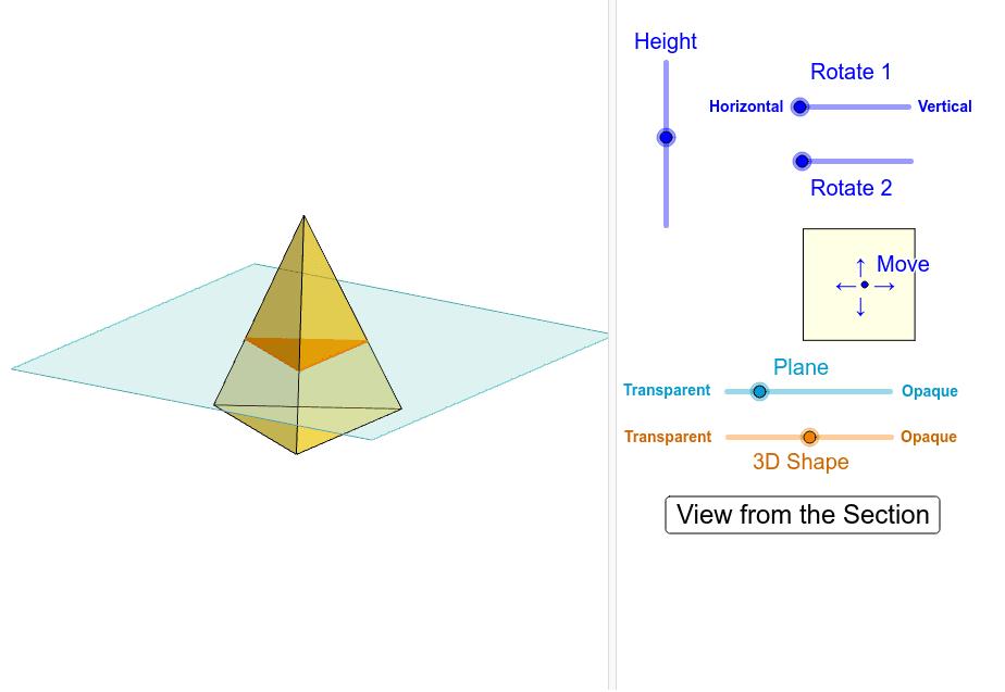 Cross-Section of Triangular Pyramid Interactive