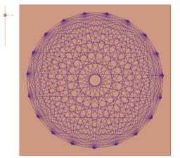 Hilagrama diagonales de un polígono