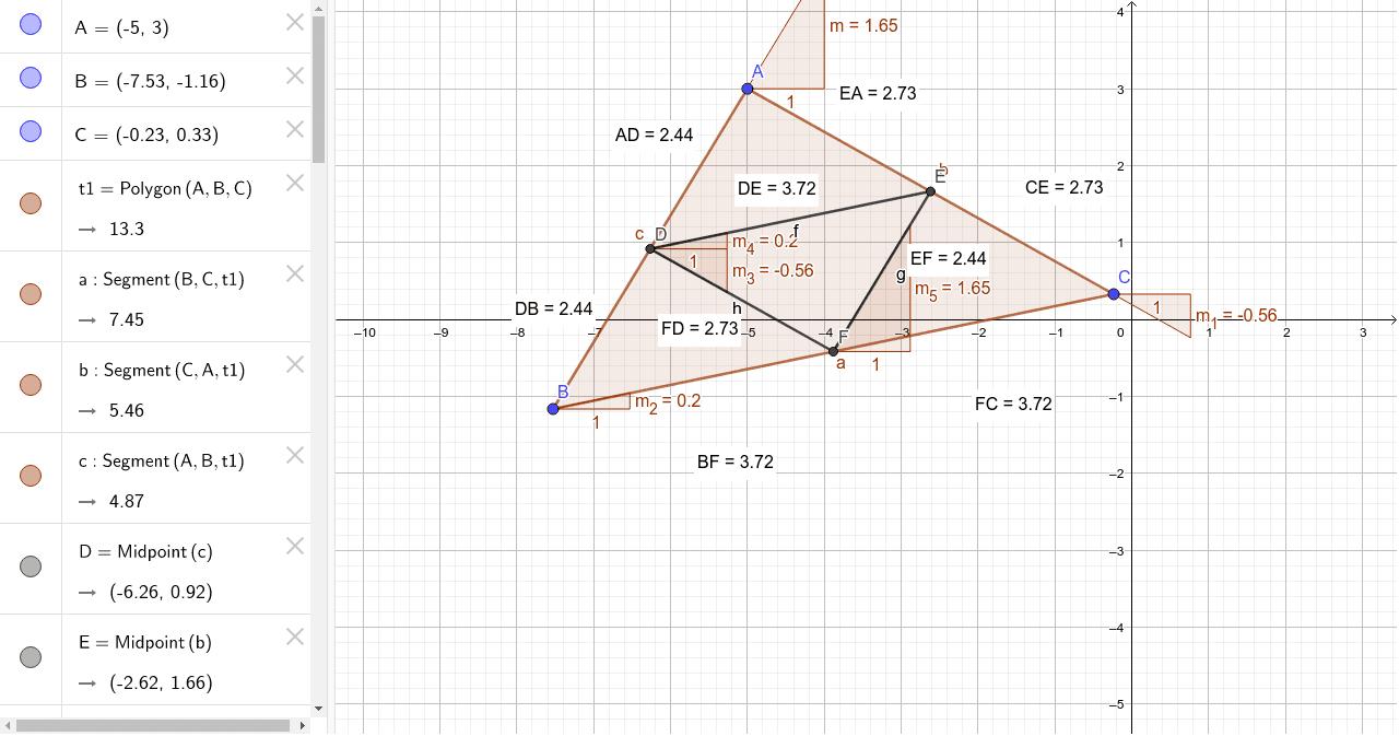 Triangle Midsegment Theorem Worksheet Geogebra