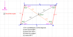 Quadrilaterals and their diagonals