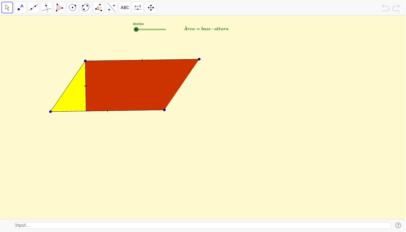Área dun romboide