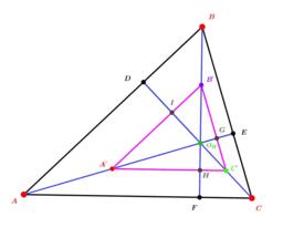Triangle homothétique du triangle ABC et orthocentre