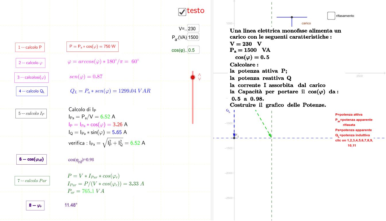per le formule cliccare sui testi indicati coi numeri 1,2,3 ecc.