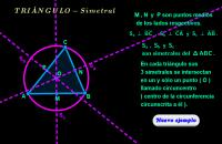 Triángulo ( simetral o mediatriz )