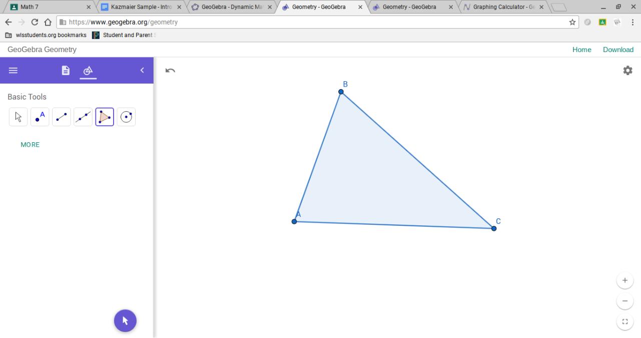 My Unique Triangle