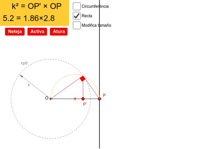Inversa d'una recta i d'una circumferència.