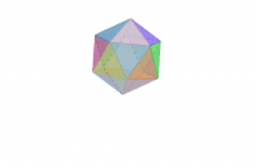 faces rotation of regular icosahedron