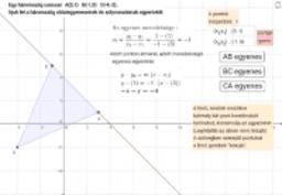 Két adott ponton átmenő egyenes egyenlete