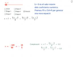 Equacions de primer grau. Rutines de resolució