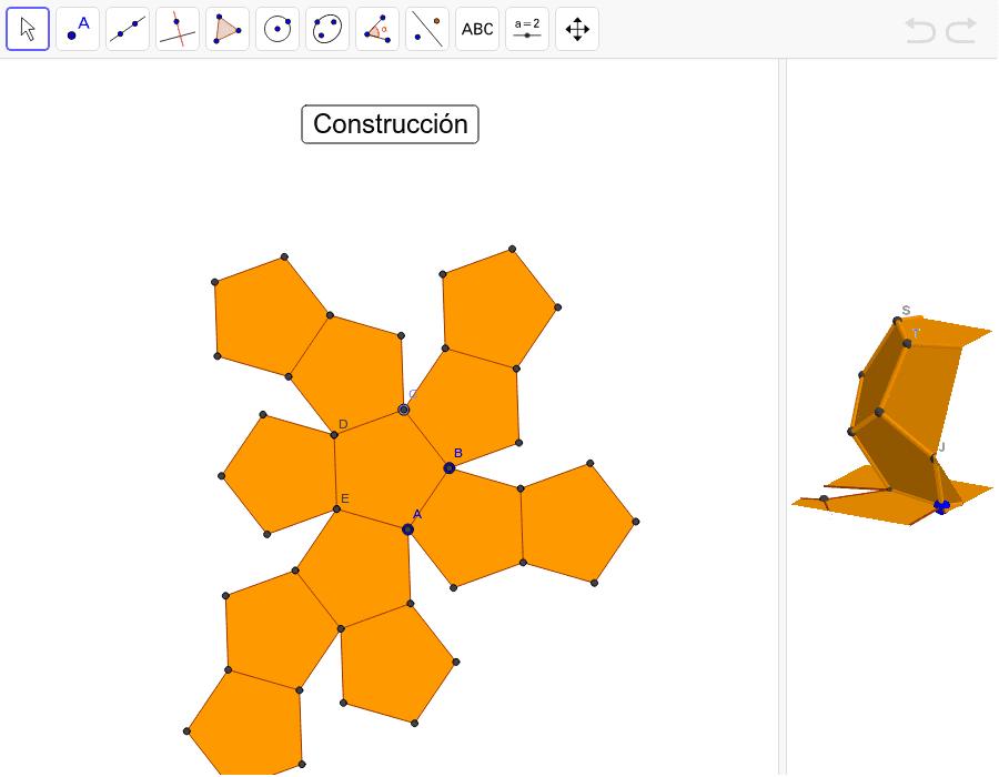 Construcción del dodecaedro