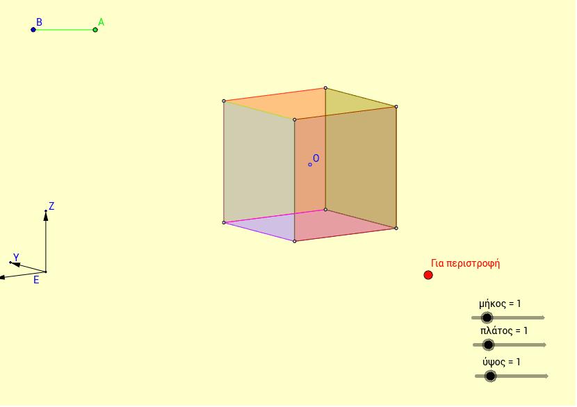 Περιστροφή ορθογώνιου παραλληλεπίπεδου