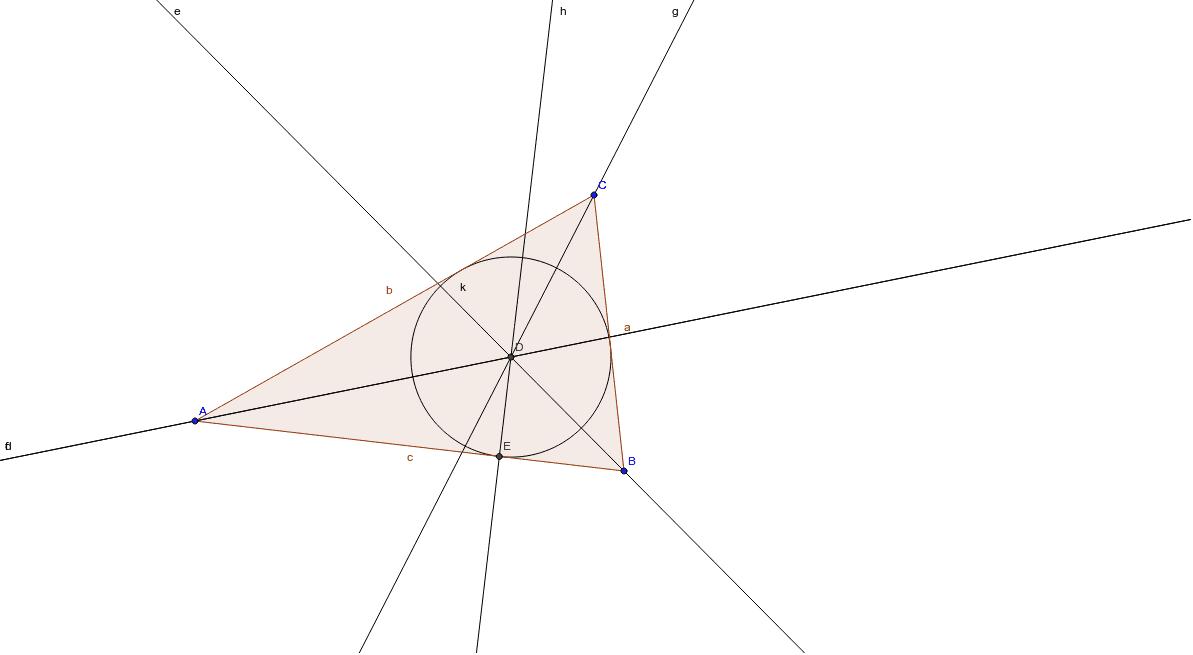 Kolmion sisään piirretty ympyrä