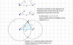 Construcción de un triángulos dados sus lados