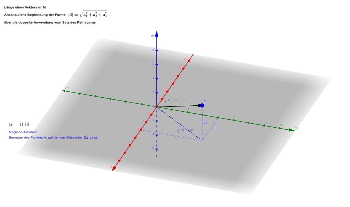 Betrag eines Vektors (Länge) 3d