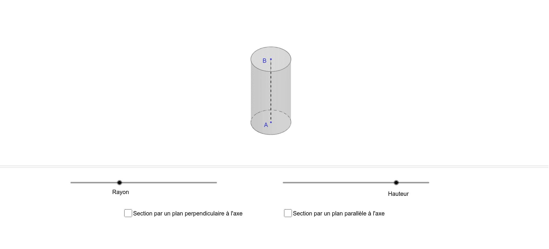 Cylindre de révolution et section
