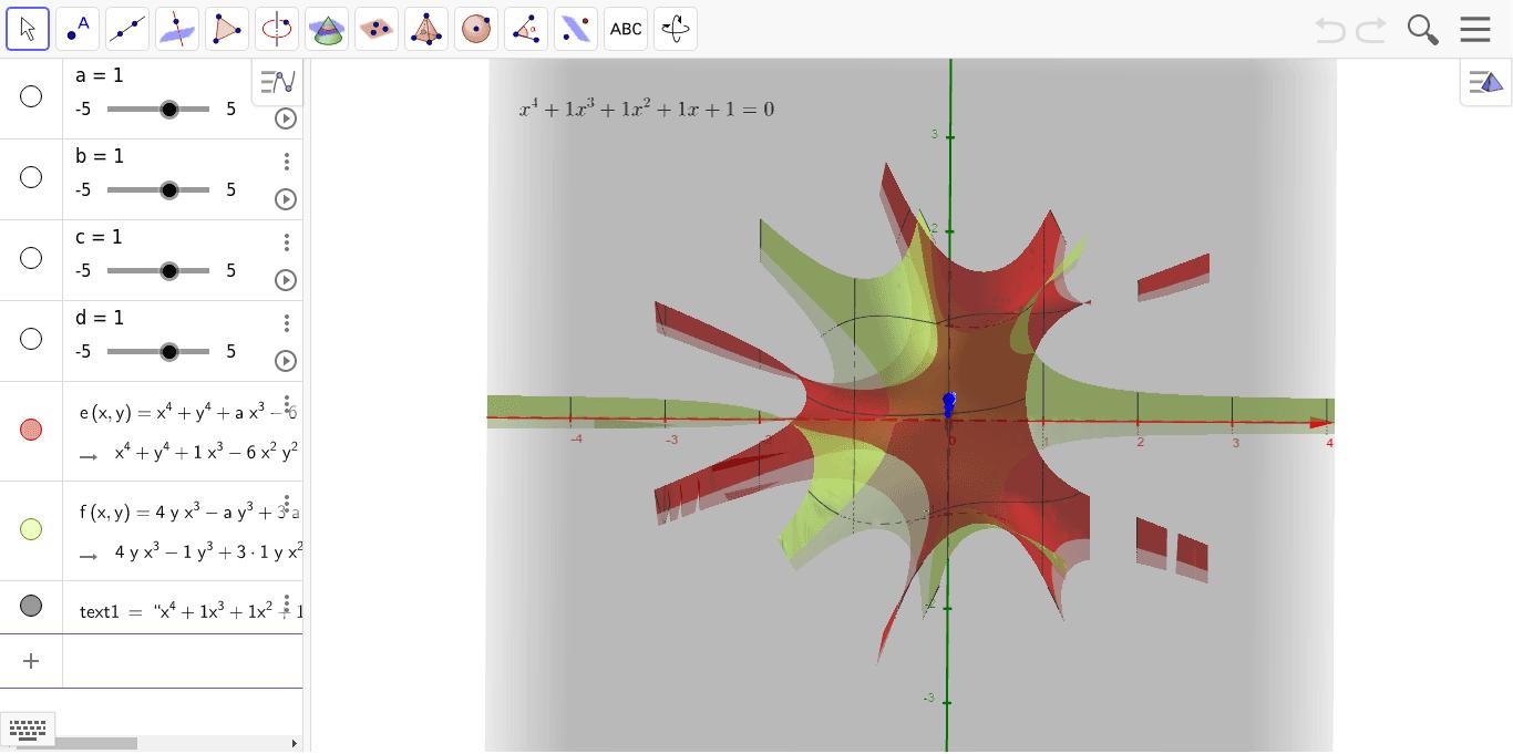 赤が実部で緑が虚部。緑の丸をクリックするとオブジェクトが消えるので、わかり易くなるかも。 ワークシートを始めるにはEnter キーを押してください。