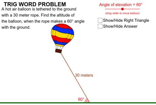 Trig Problem - Hot Air Balloon – GeoGebra