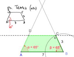 Konstruiere ein gleichschenkliges Trapez