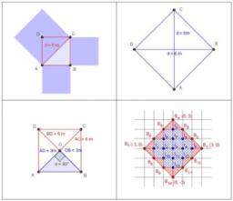 Área de un cuadrado conocida la longitud de su diagonal