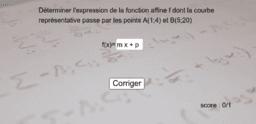 Retrouver l'expression d'une fonction affine