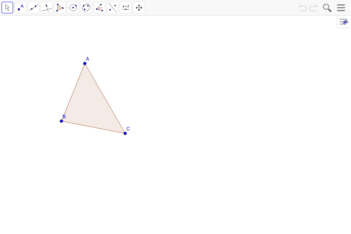 7) Find the orthocenter of the triangle.