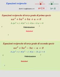 Equazioni Reciproche
