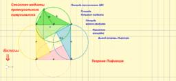 Теорема Пифагора и свойство медианы