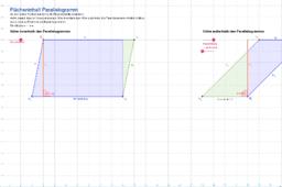Flächeninhalt Parallelogramm