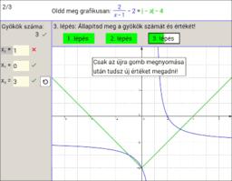 Egyenletek grafikus megoldása nehéz 11.