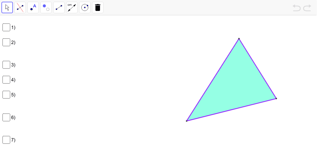 Investigating Perpendicular Bisectors in Triangles Press Enter to start activity