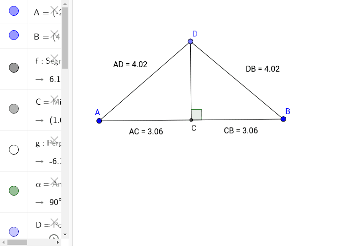 Perpendicular Bisector (Set Midpoint)
