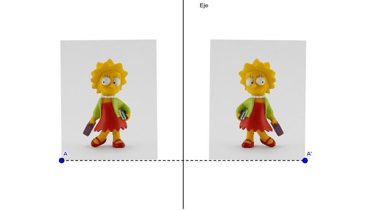 Figura simétrica respecto de una recta
