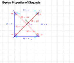 Diagonals of Quadrilaterals