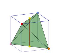 正立方體內的正四面體