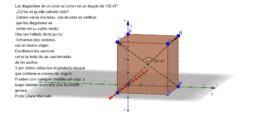 Ángulo formado por las diagonales de un cubo