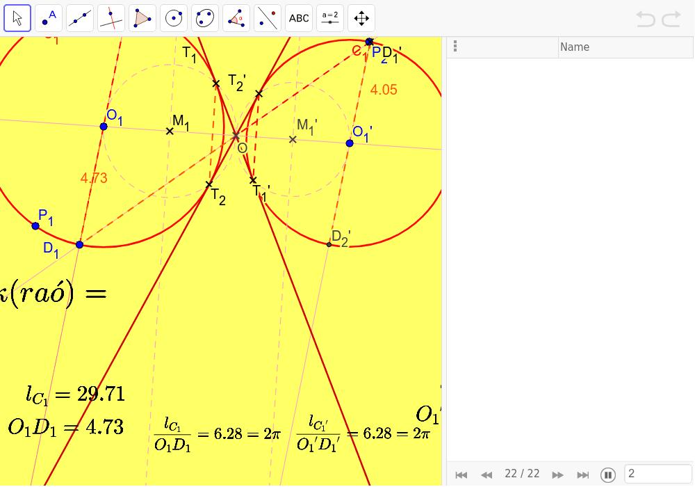 Longitud de la circumferència i dels seus arcs.