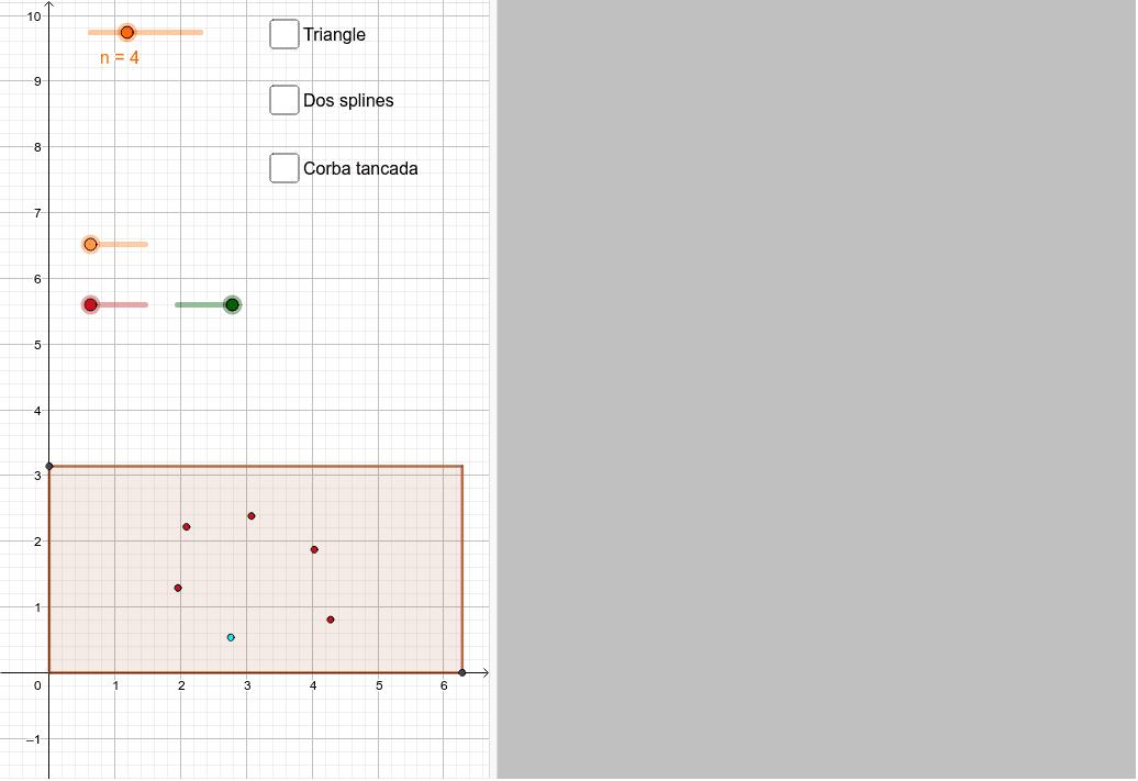 Moveu els punts lliscants i després cliqueu a les caselles de verificació