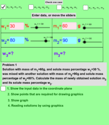 Mixing of two solutions