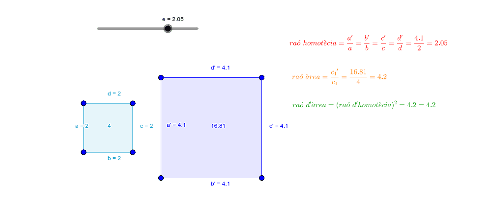 1. Relació de semblança i relació d'àrees.