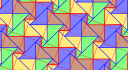 Pythagorean Theorem by Tessellation # 51 Tiling