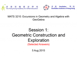 MATS3210 Session 1: Selected Answers