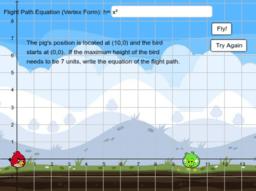 Angry Birds 1: Modelling Quadratics