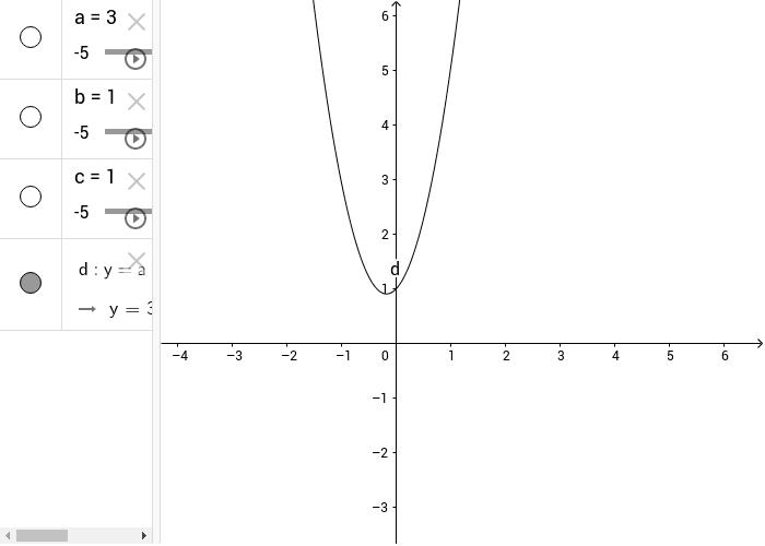 varia i parametri con gli slider