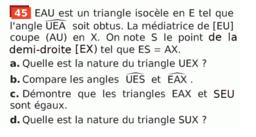 Triangles égaux : exercice 45 p 260 (Sesamath cycle 4)